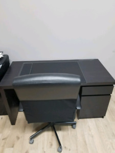 IKEA MALM Desk and Office Chair