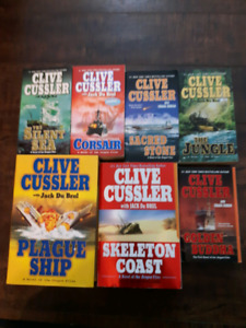 30 books by Clive Cussler