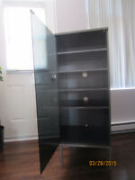 IKEA entertainment/storage cabinet with glass door