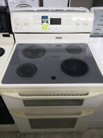 MAYTAG DOUBLE OVEN GLASSTOP STOVE ONLY $450+HST!!!