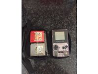 Game boy Colour with Pokemon red and silver