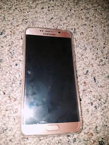 Factory unlocked Samsung Note 5 Rose gold 32G