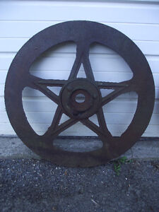 "Antique Cast Iron 5 Point Star ""Wheel"""