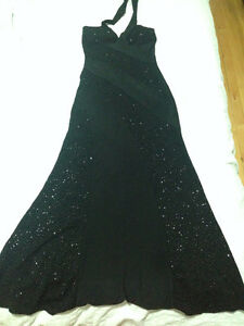 Black evening gown  / prom dress
