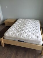 EQ3 Double bed and side table