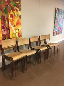 Vintage stacking bentwood chairs