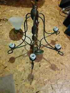 Matching set of two working 7 light chandeliers