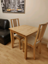 Ikea Norden table , and two borje chairs