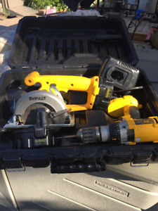 Dewalt Cordless Drill & Mini Saw 14.4v  with battery and charger