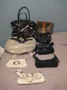8 bags purses- 8 sac a mains