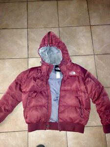 North Face coat and Lululemon sweater