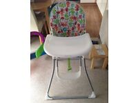 Mamas and papas littleland baby highchair excellent condition