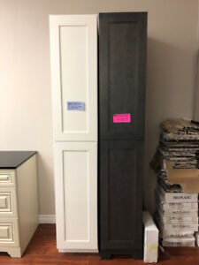 bathroom demo linen tower and upper storage cabinets on SALE!!