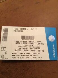 2 x Paul Heston & Jacqui Abbott Tickets - Thetford Forest - 9th June