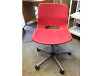 Pink girls desk OR office desk plastic chair - USED