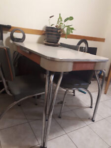 Mid-Century Formica Table and Chair Set