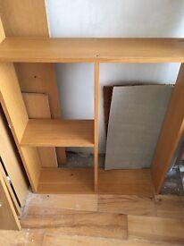 Wall mountable shelves x2 oak