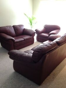 Genuine Leather Sofa Set for sale at $950
