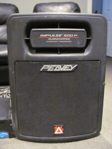 Peavey Impulse 500 Subwoofers and Crown Amplifier