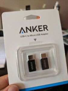 Micro USB to USB-C Adapter, Anker pack of 2