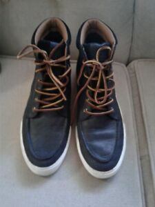 TEDD POLO RALPH LAUREN LEATHER HIGH TOP SNEAKERS SIZE 12D