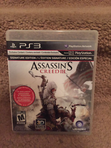 Assassins Creed III for the PS3