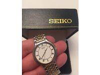 Retro Seiko Quartz stylish watch
