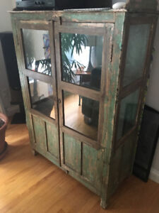 Old glass door cabinet from the orient.