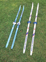 Two pairs of X-country skis
