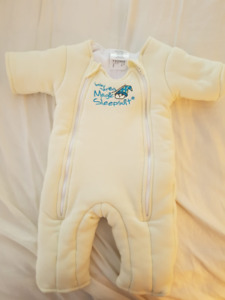 2 Magic Merlin Sleep Suits - yellow cotton size 3-6 months