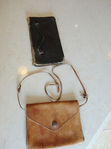 Vintage Leather Belt Sachel Pouch &Vintage Accounting Tally Book Kitchener / Waterloo Kitchener Area image 1