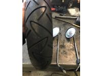 Vespa wheel and tyre