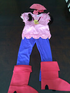Izzy, 4T Jake and the Neverland Pirates Disney costume.