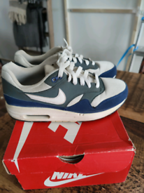 Nike Air Max 1 - Royal Blue and White - UK5