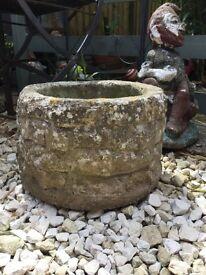 Vintage heavy, weathered garden planter