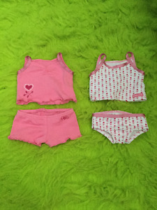 "American Girl camisole and underwear sets for 18"" doll"