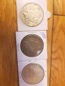 Us morgan and peace dollars dating back to the 1880s