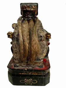 Beautiful vintage chinese mid century house god with real horse