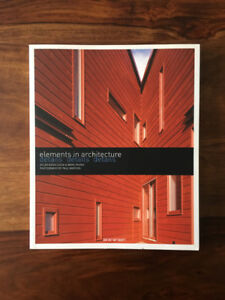Livres architecture - Elements in architecture