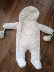 Mamas & Papas quilted pramsuit