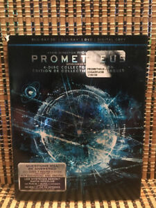 Prometheus 3D: Collector's Edition (4-Disc Blu-ray/DVD, 2012)+Ra