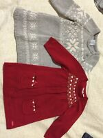 Baby girl sweater dresses 3-6 months
