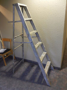 6-Rung Aluminum Step Ladder.