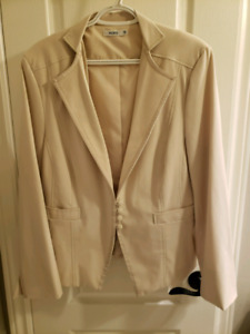 beige ladies suit jacket size 18