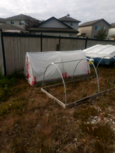 Garden bed greenhouse covers