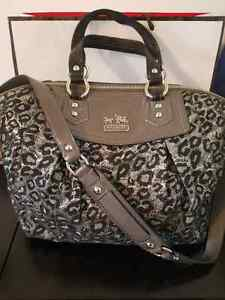 Authentic Coach Handbag - Limited Edition Snow Leopard Print