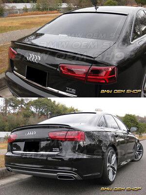 ALL COLOR PAINTED SK DESIGN TRUNK LIP SPOILER for 11 17 AUDI A6 C7
