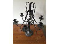 Metal chandelier candle holder