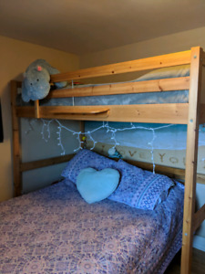 Solid, Excellent Condition Pine Loft Bed