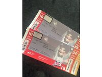 2 X formula one tickets for this Sunday (10th July)
